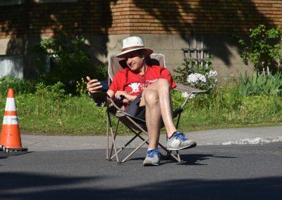 Foulée des Parcs Bénévole chaise en attente
