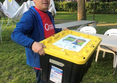 Foulée des Parcs 2019 Bénévoles Jeune Homme Tente Ville