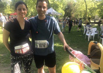 Foulée des Parcs 2019 Coureurs hors course Famille Couple et poussette