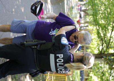 Foulée des parcs coureurs ainé police