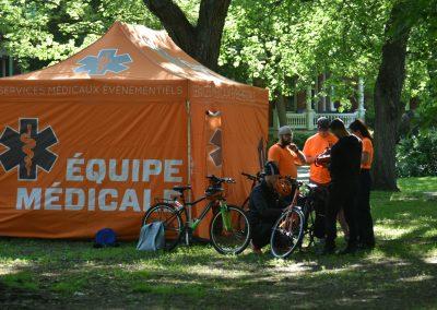 Foulée des Parcs 2019 Tente Equipe Medicale
