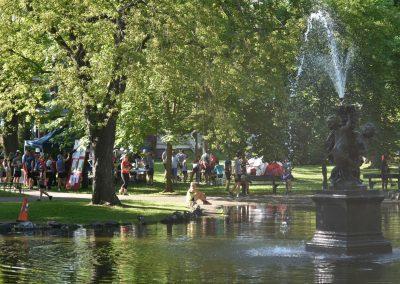 Foulées de Parcs 2019 Tente Inscriptions et Bassin Fontaine