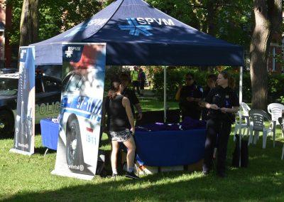 Foulées de Parcs 2019 Tente Police Infos