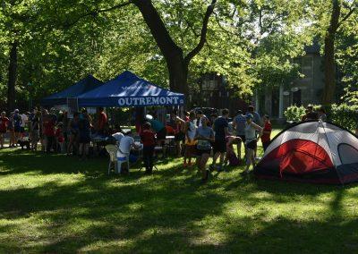 Foulées de Parcs 2019 Tente camping affaires